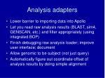 analysis adapters
