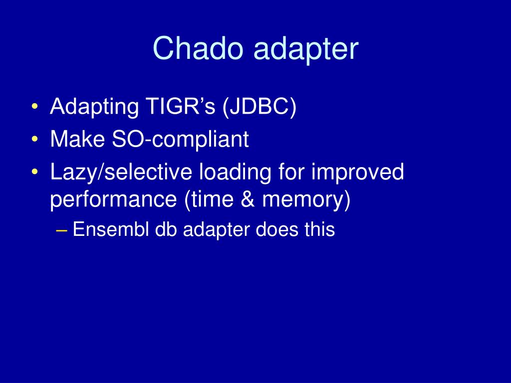Chado adapter