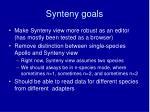 synteny goals
