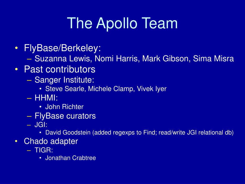 The Apollo Team