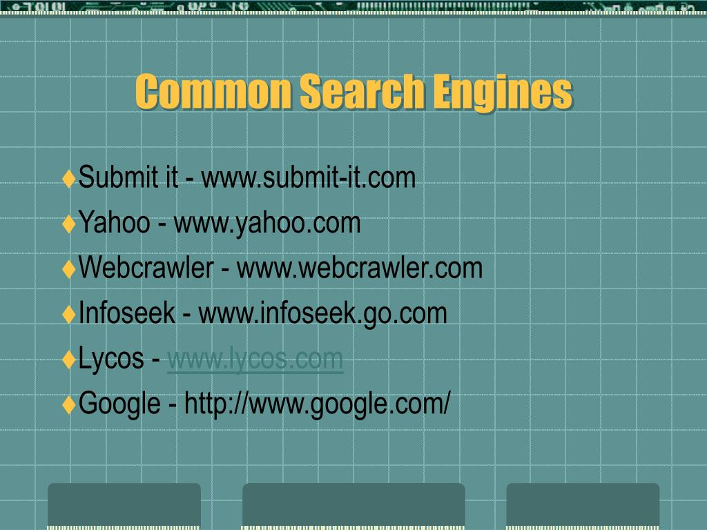 Common Search Engines