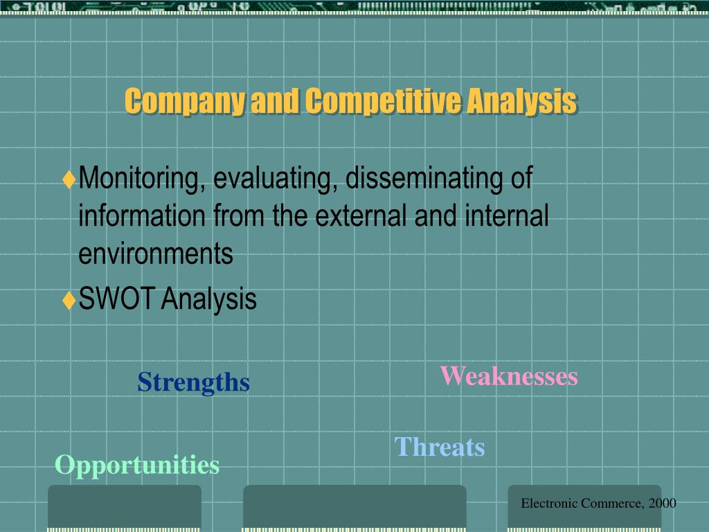 Company and Competitive Analysis