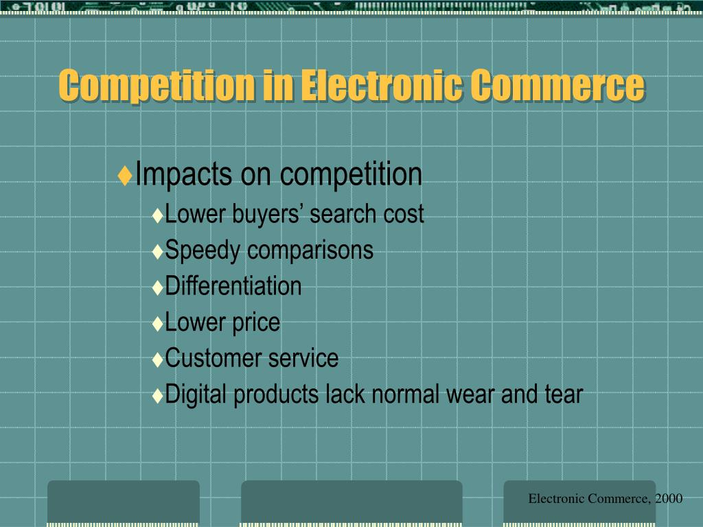 Competition in Electronic Commerce
