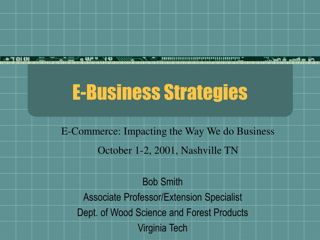 E-Business Strategies