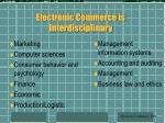 electronic commerce is interdisciplinary