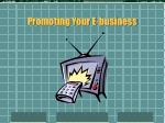 promoting your e business
