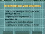 the advantage for small businesses81