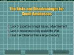 the risks and disadvantages for small businesses83