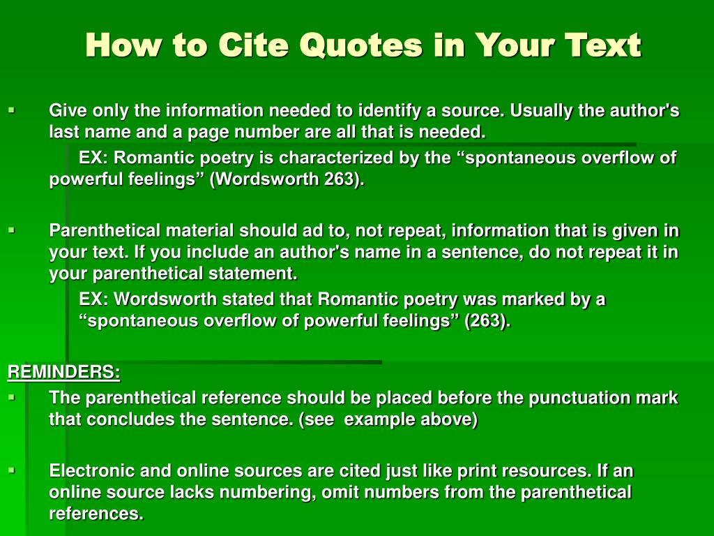 how to use parenthetical citation in an essay