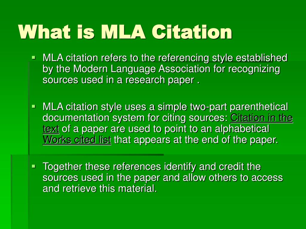 mla format research paper citing sources