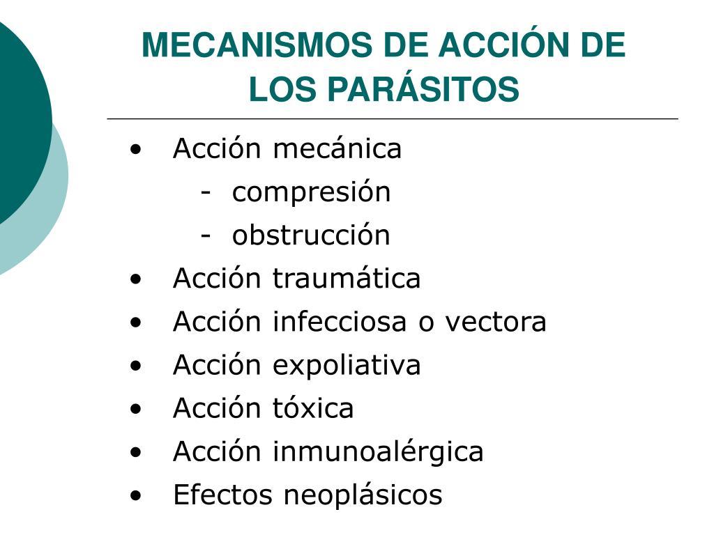 MECANISMOS DE ACCIÓN DE LOS PARÁSITOS