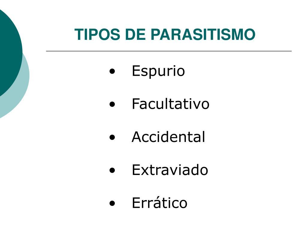 TIPOS DE PARASITISMO