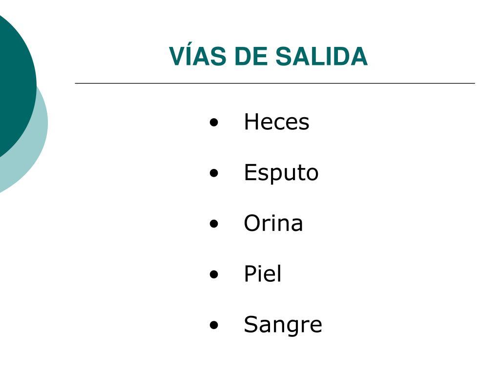 VÍAS DE SALIDA
