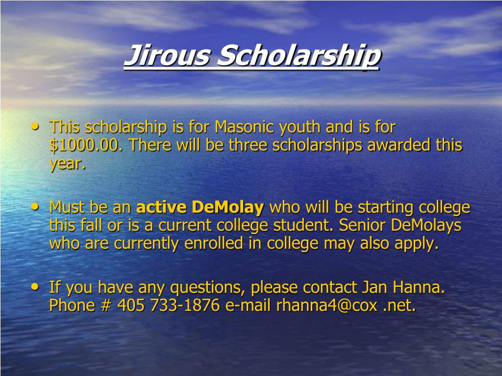 Jirous Scholarship