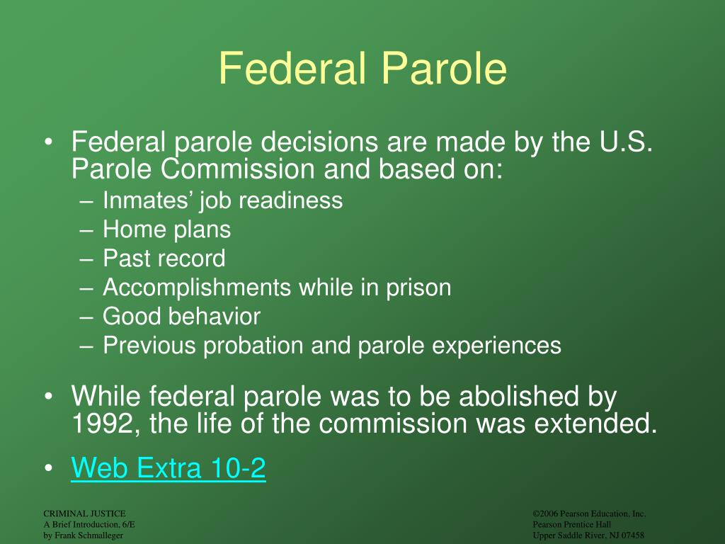 abolish parole Community corrections community corrections consists of a central office staff to support the field, three regional offices statewide supervising probation and parole districts, and community facilities which consists of.