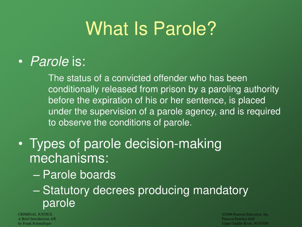 history of probation and parole History of probation difference between probation and parole while both probation and parole offer supervision for individuals convicted of a crime, there are some basic differences while probation is a sentence used in place of jail time.