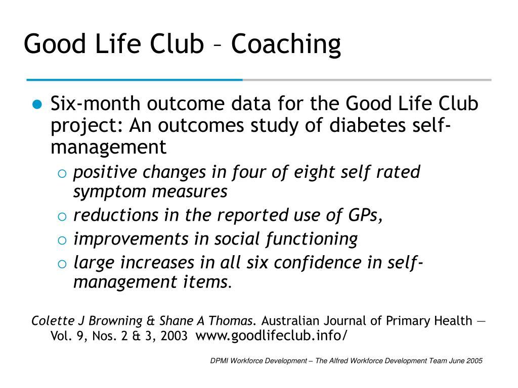 Good Life Club – Coaching