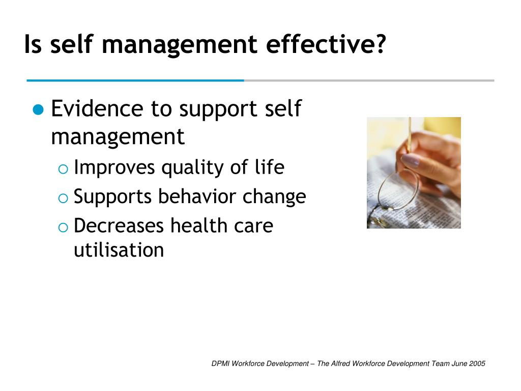 Is self management effective?