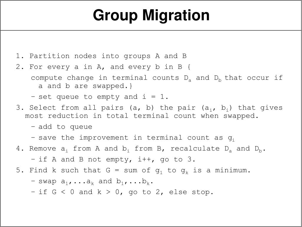 1. Partition nodes into groups A and B
