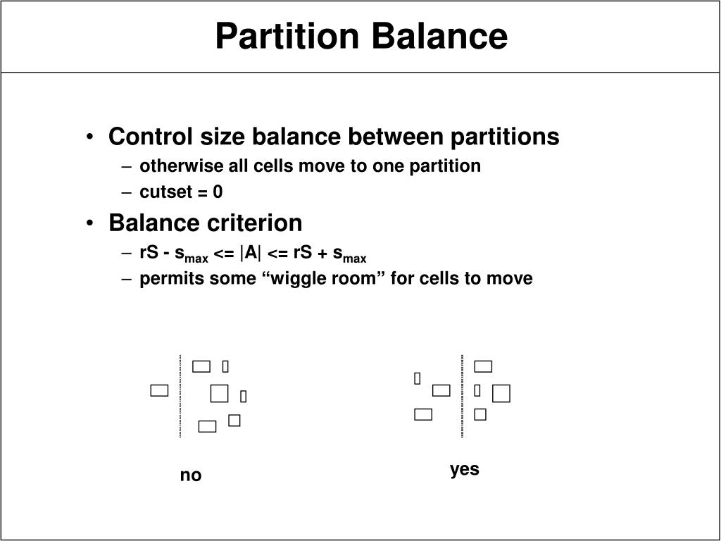 Control size balance between partitions