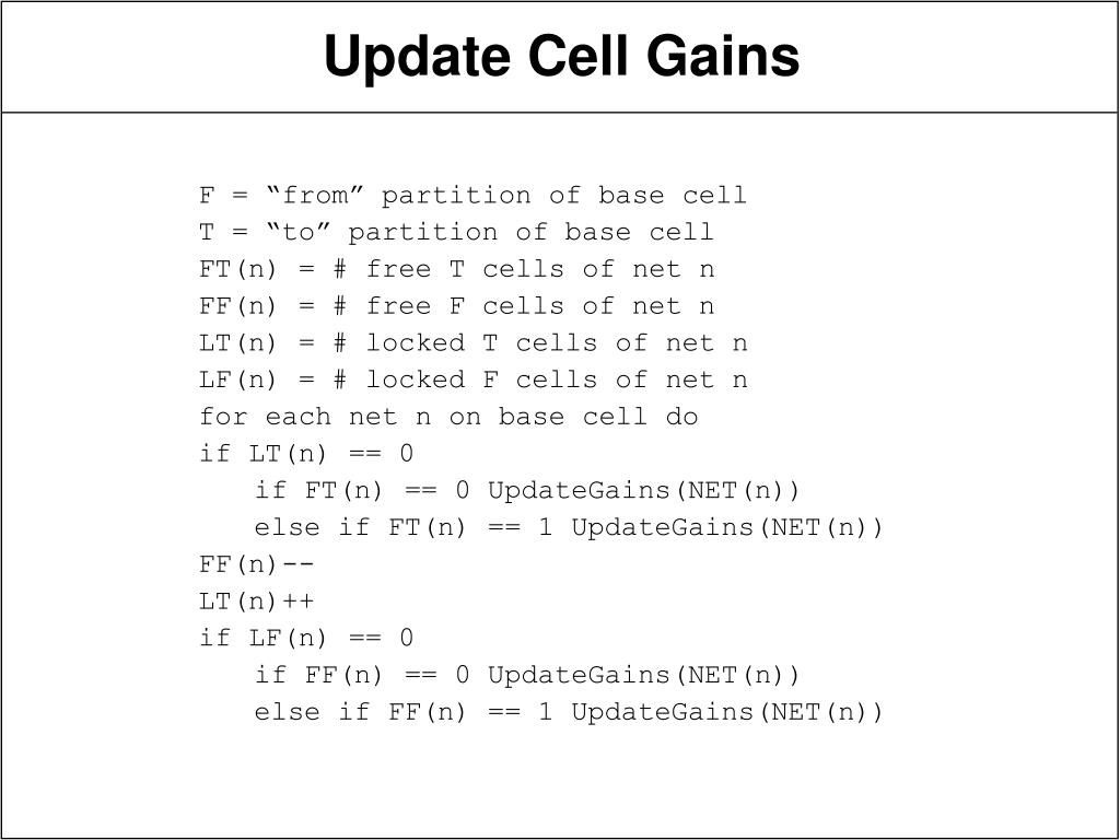 "F = ""from"" partition of base cell"