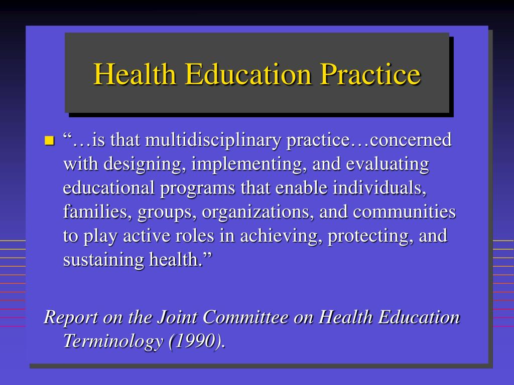 Health Education Practice