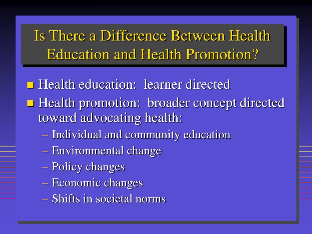 Is There a Difference Between Health Education and Health Promotion?