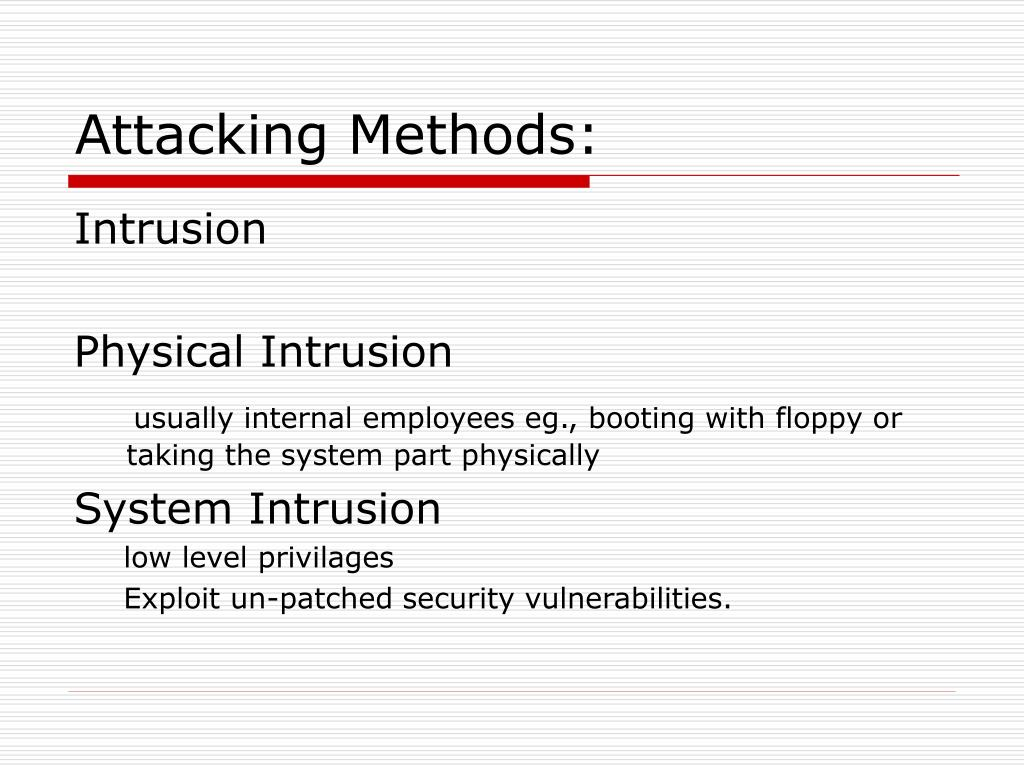 Attacking Methods: