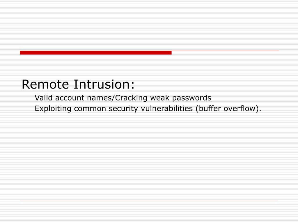 Remote Intrusion: