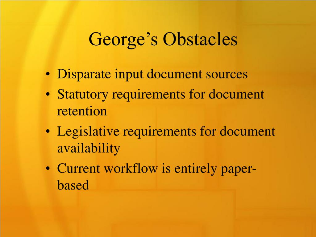 George's Obstacles
