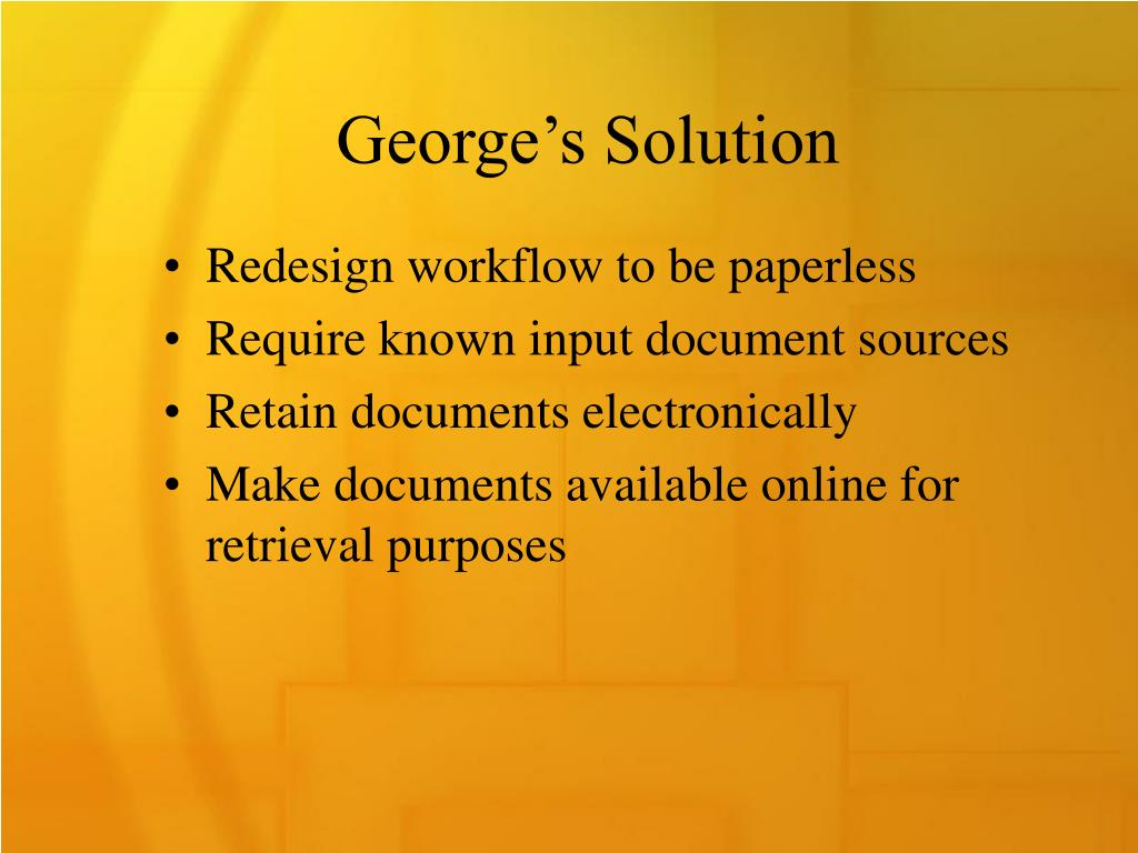 George's Solution
