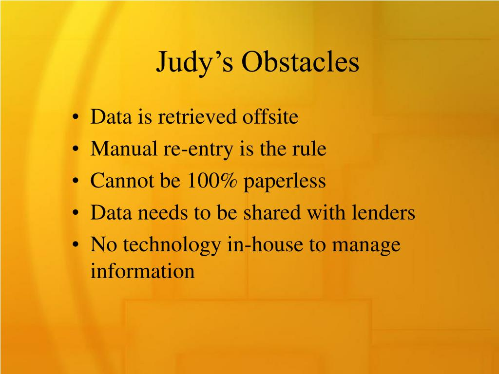 Judy's Obstacles