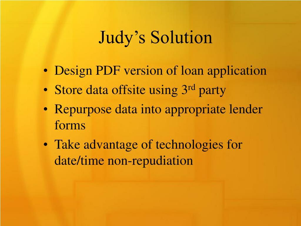 Judy's Solution