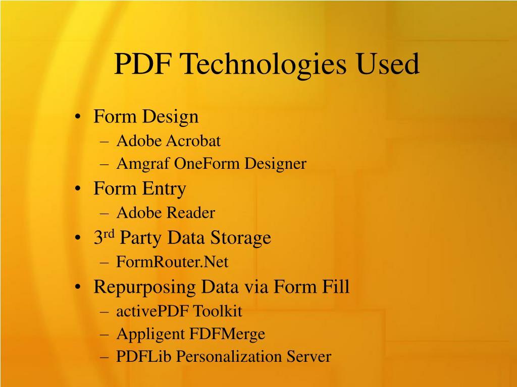 PDF Technologies Used