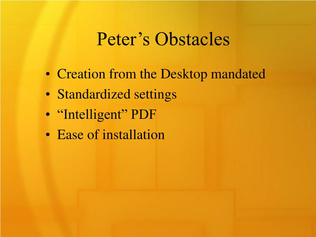 Peter's Obstacles
