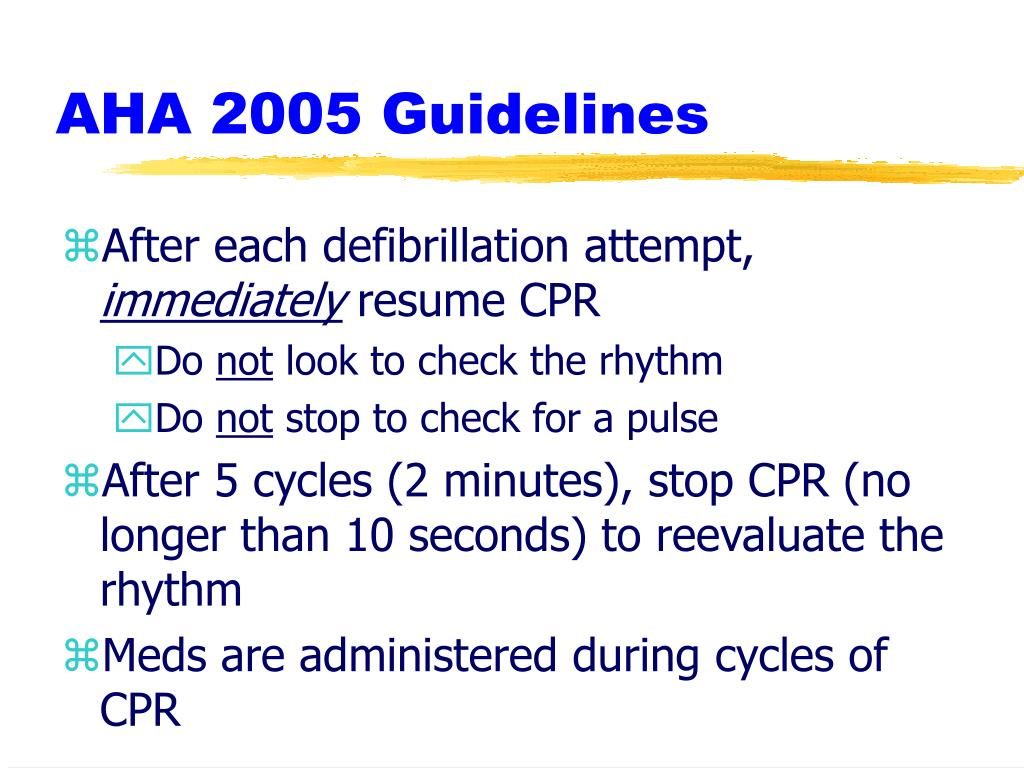AHA 2005 Guidelines
