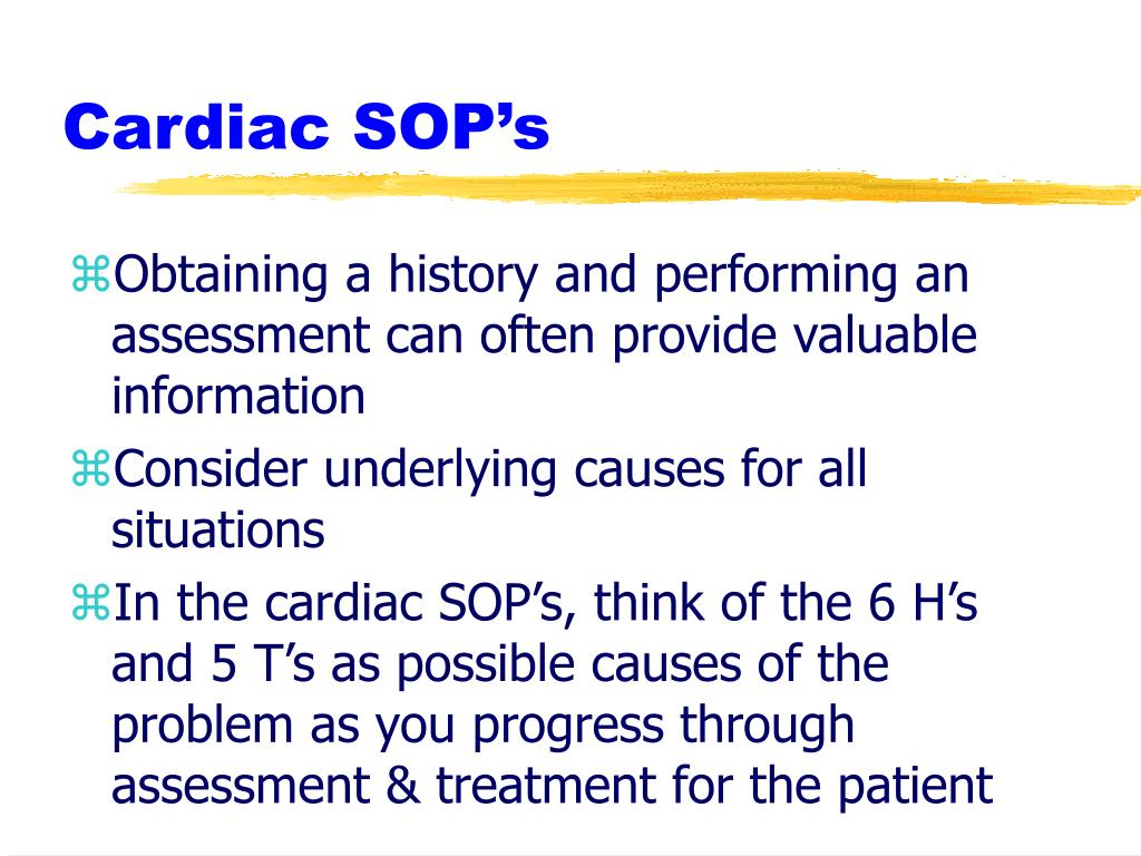 Cardiac SOP's