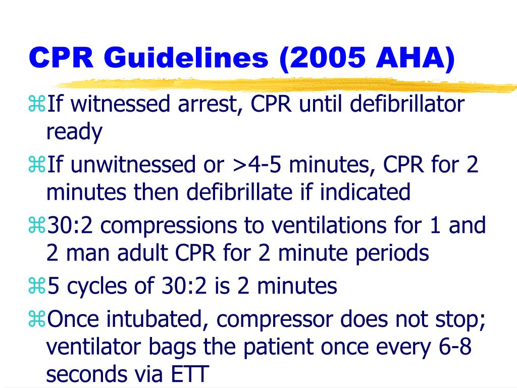 CPR Guidelines (2005 AHA)