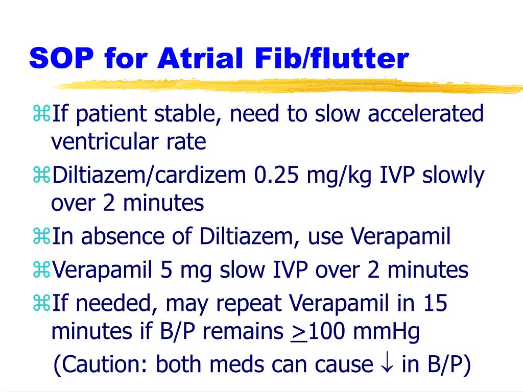 SOP for Atrial Fib/flutter