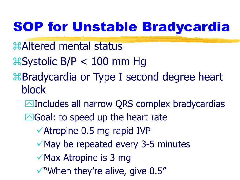 SOP for Unstable Bradycardia