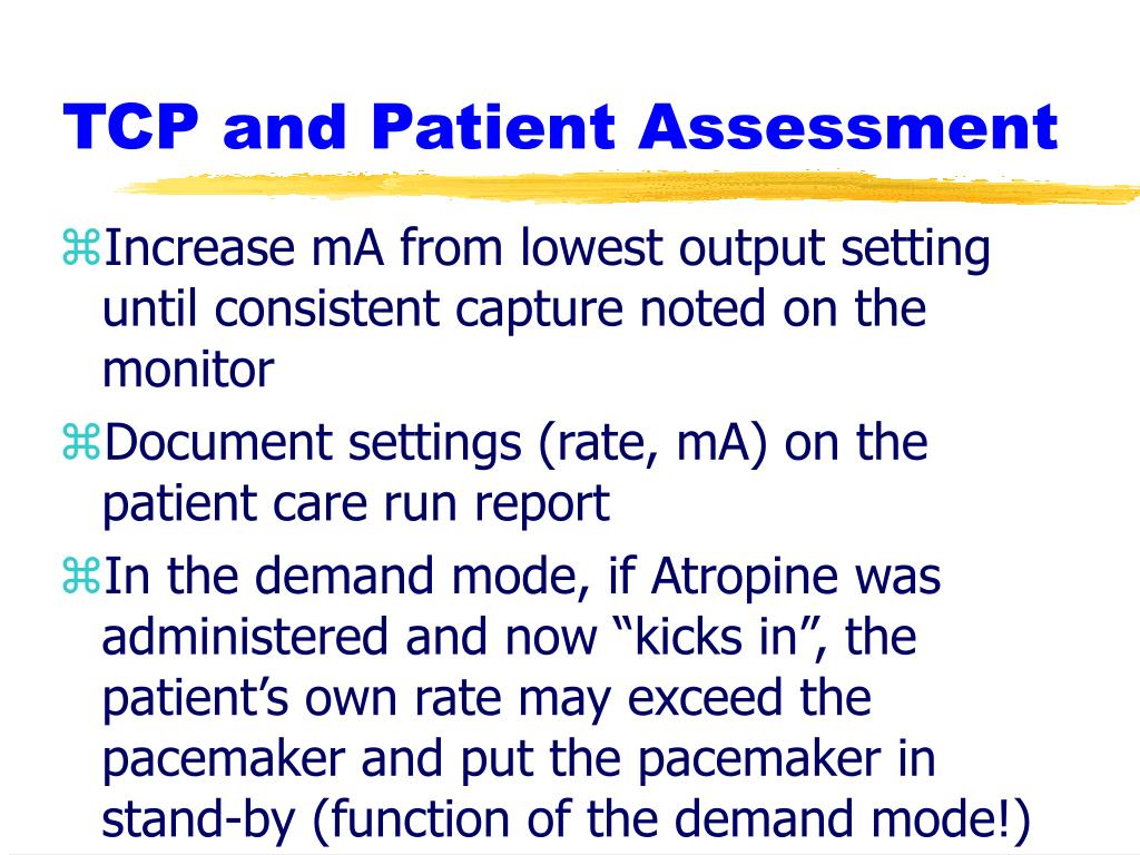 TCP and Patient Assessment