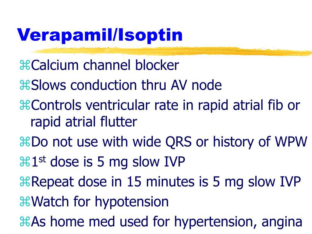 Verapamil/Isoptin