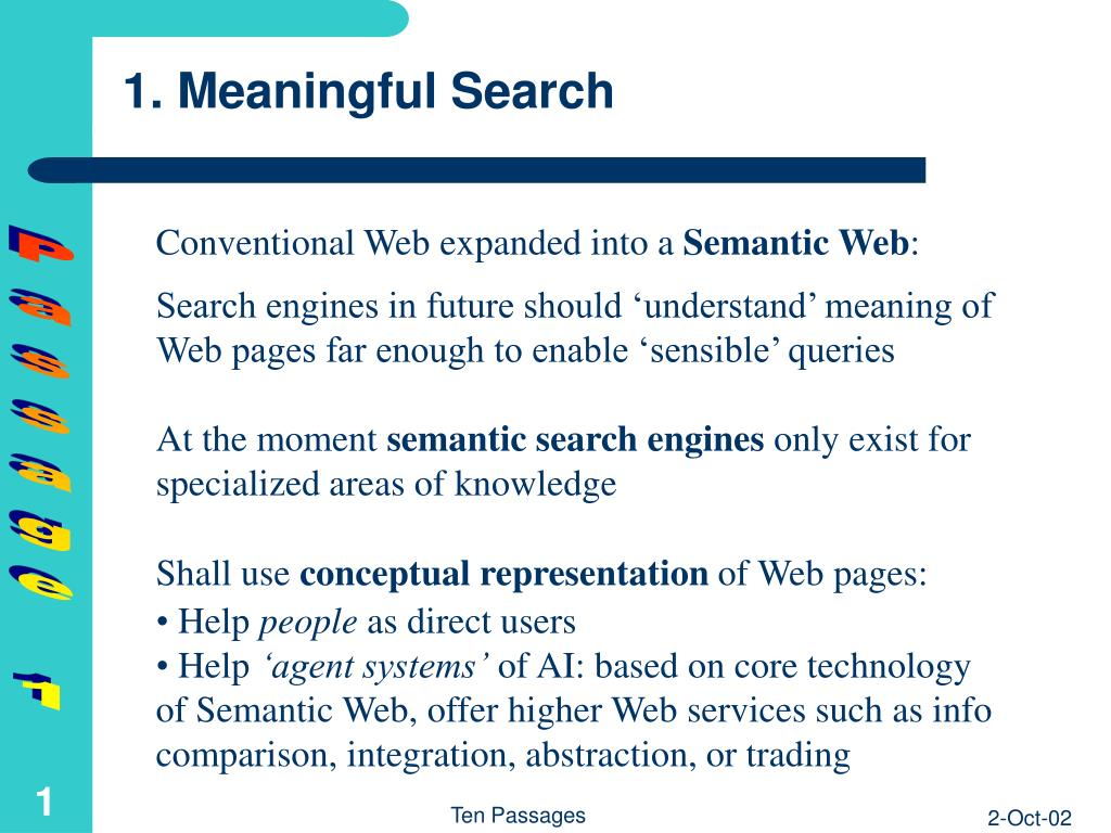 1. Meaningful Search