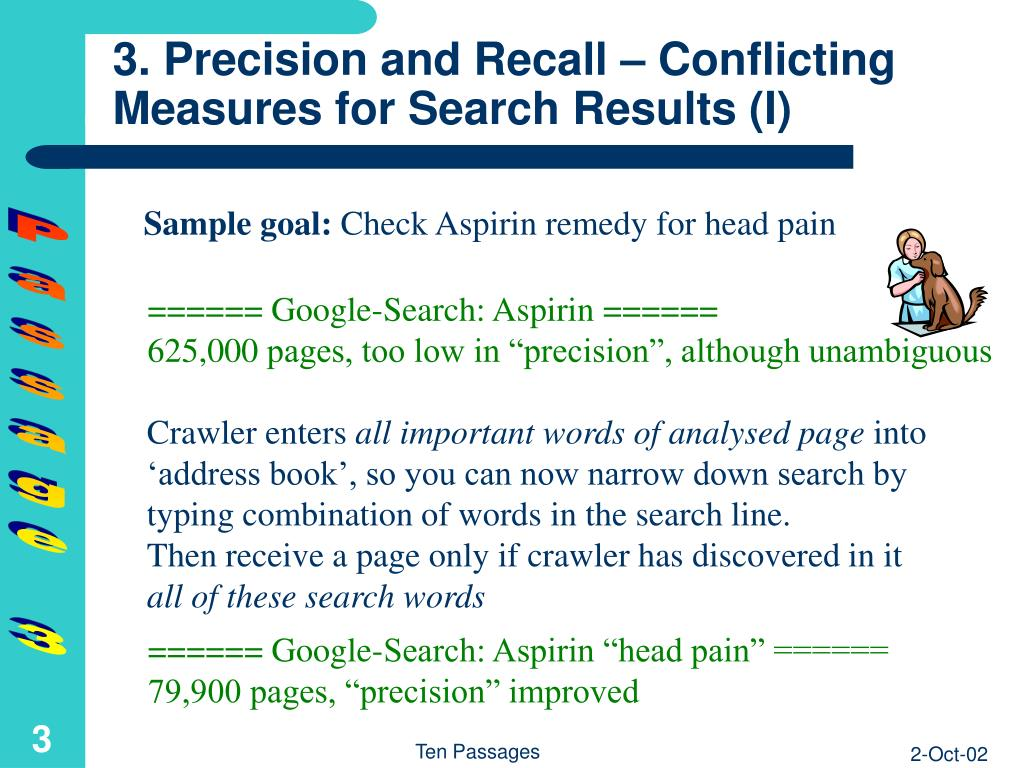 3. Precision and Recall – Conflicting Measures for Search Results (I)