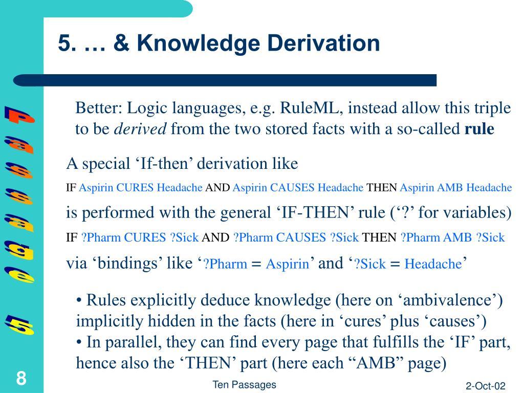 5. … & Knowledge Derivation