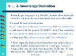 5 knowledge derivation