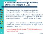 5 semantic relationships between standard concepts i