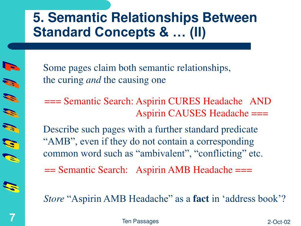 5. Semantic Relationships Between Standard Concepts & … (II)