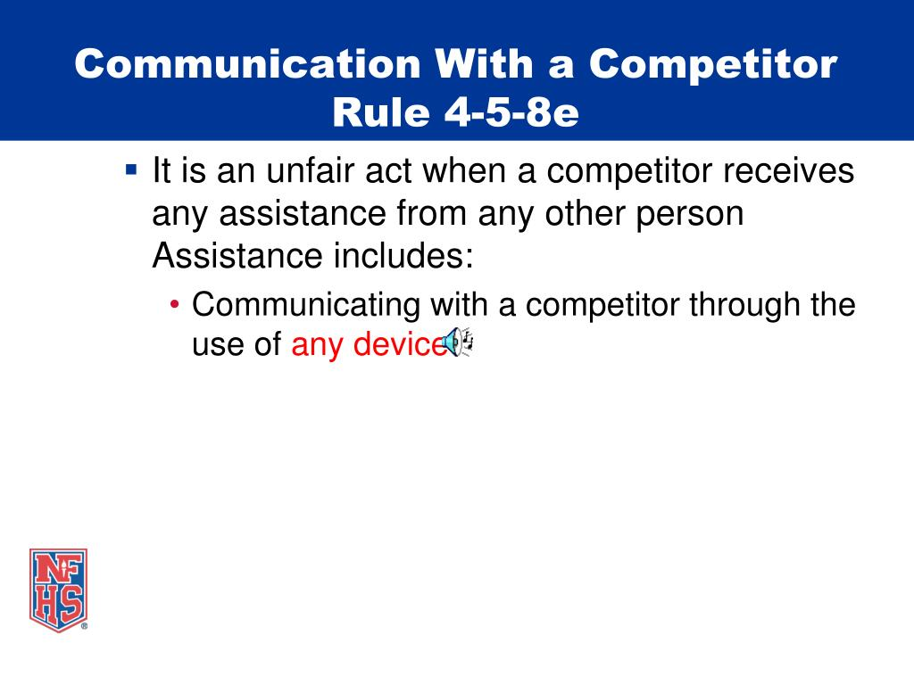Communication With a Competitor