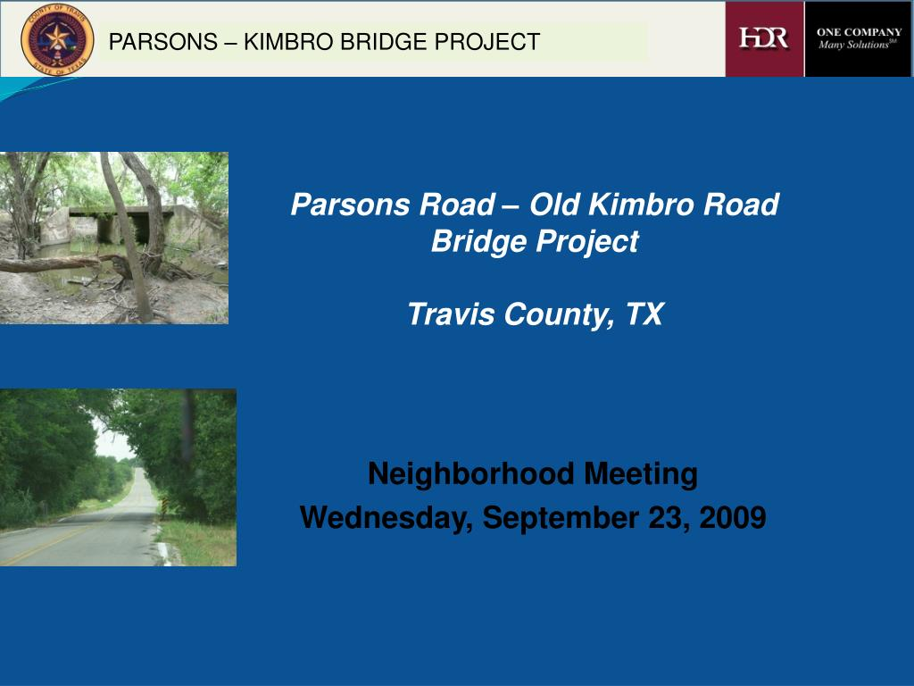 Parsons Road – Old Kimbro Road